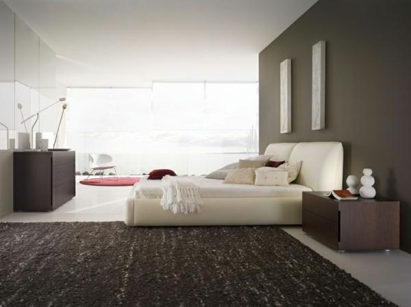 coole-schlafzimmer-deko-großer-grauer-teppich