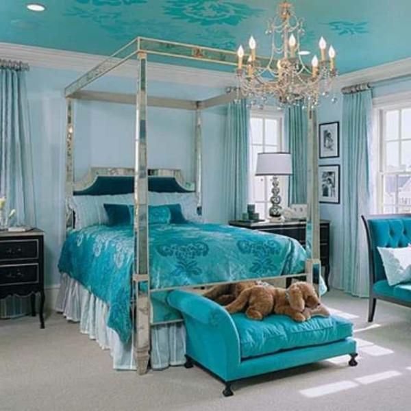 coole-schlafzimmer-deko-interessantes-blaues-interieur