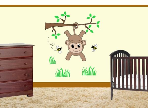 Wandgestaltung Kinderzimmer Dschungel : Wandgestaltung kinderzimmer dschungel  Dschungelkinderzimmercooles