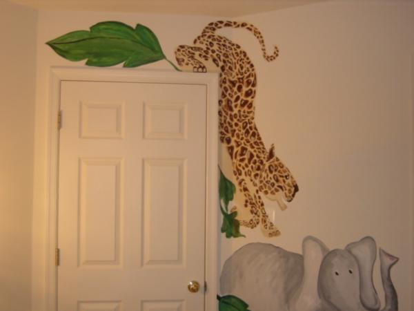 Dschungel Kinderzimmer Kreative Tur Gestaltung Tier Bemalungen