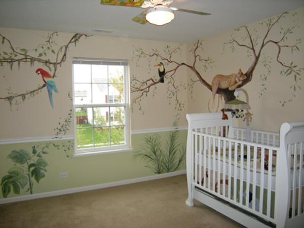 Wandgestaltung Babyzimmer Fotos : Coole fotos vom dschungel kinderzimmer archzine