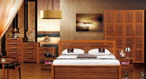echtholzbett-in-einem-eleganten-schlafzimmer