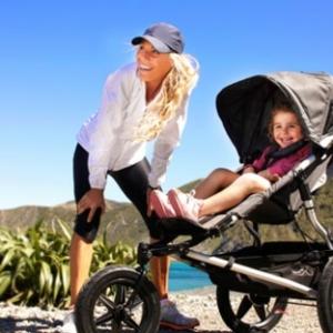 Zeit für einen  Spaziergang mit Kinderwagen!