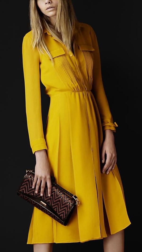 elegante-kleider-kleid-gelb-damenkleider-günstige-kleider--