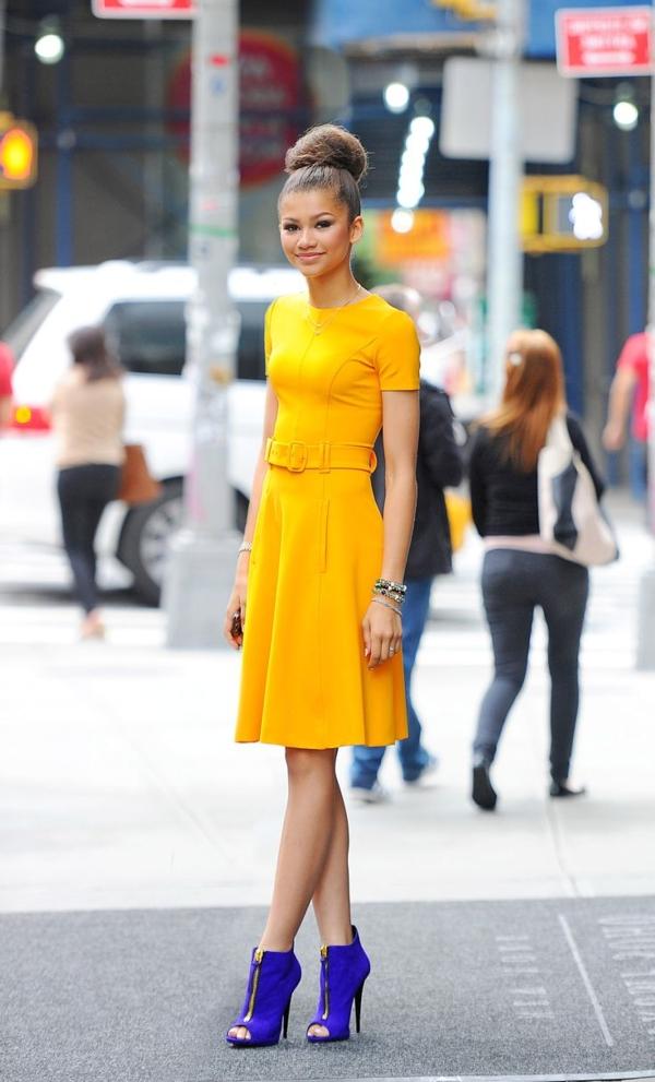 elegante-kleider-kleid-gelb-damenkleider-günstige-kleider---