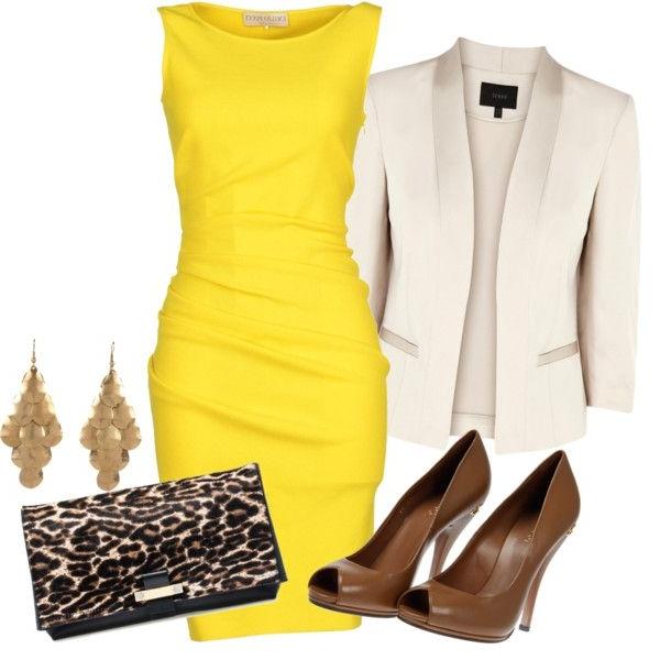 gelbes kleid die trendfarbe 2015 ist gelb. Black Bedroom Furniture Sets. Home Design Ideas