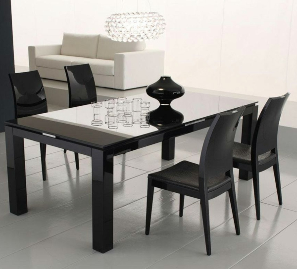 ultramoderne designs vom glasplatte tisch. Black Bedroom Furniture Sets. Home Design Ideas