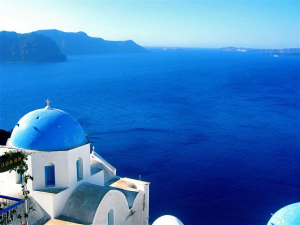 endloses-Blau-in-Santorini-Griechenland