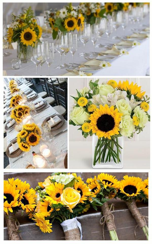 Faszinierende Dekoideen mit Sonnenblumen ! - Archzine.net