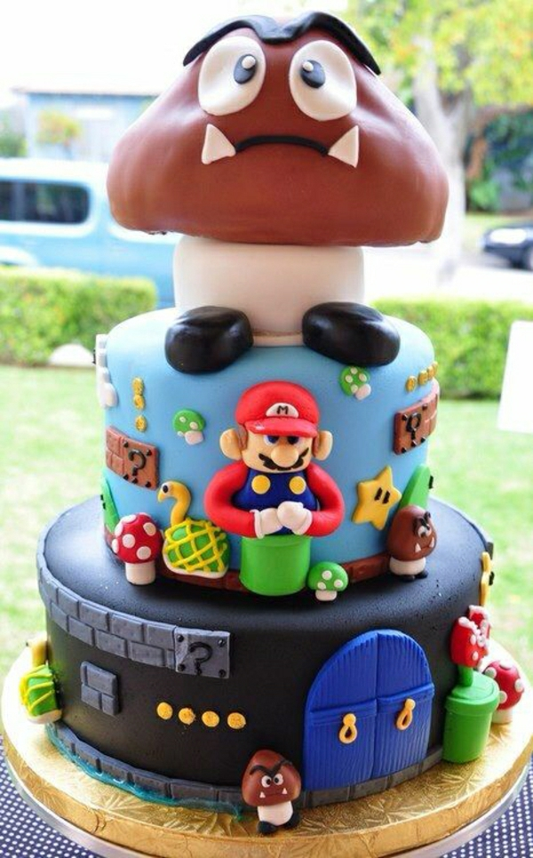 super mario torte 46 erstaunliche bilder. Black Bedroom Furniture Sets. Home Design Ideas