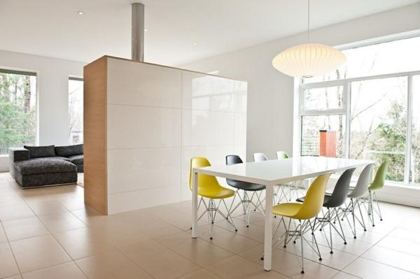 esszimmer-drehstuhl-moderne-weiße-gestaltung