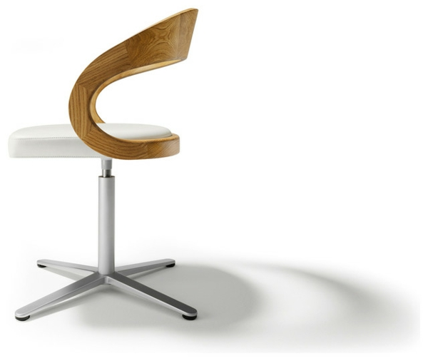 Drehstuhl esszimmer holz for Designer drehstuhl
