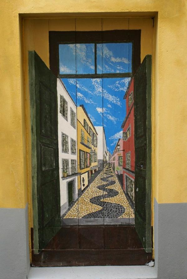 -fantastische-bemalte-eingangstüren-wohnungseingangstüren-deko-idee