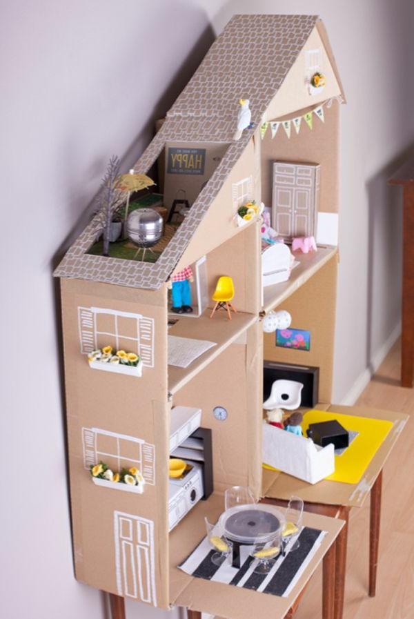 Bilder Aus Tapeten Basteln : fantastisches-design-einrichtungsideen-basteln-mit-karton-kartone-