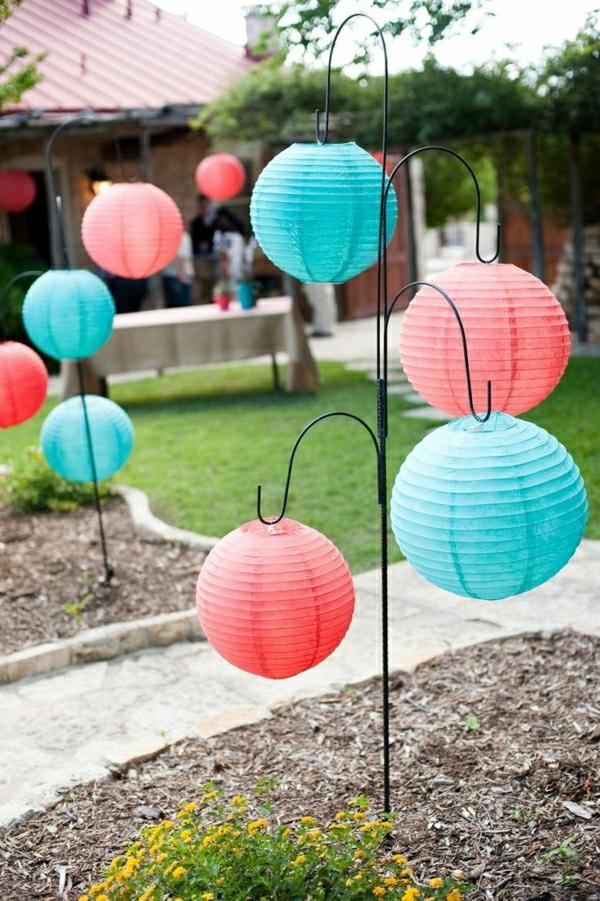 farbige-Papierlampen