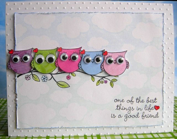 freundschaftskarten-basteln-mit-papier-karten-selber-machen-diy-karten-basteln-schöne-originelle-ideen