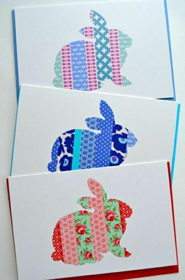 frohe-ostern-osterkarten-basteln Karten selber basteln
