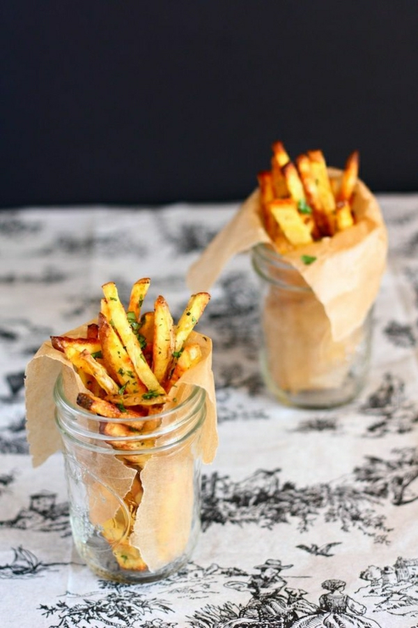 gebackene-Knoblauch-Koriander-Frites