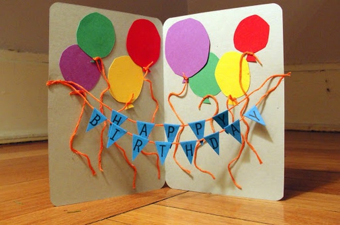geburtstagskarten selber machen vorlagen ausgefallene geburtstagskarten selber basteln pop up karte zum geburtstag mit ballons