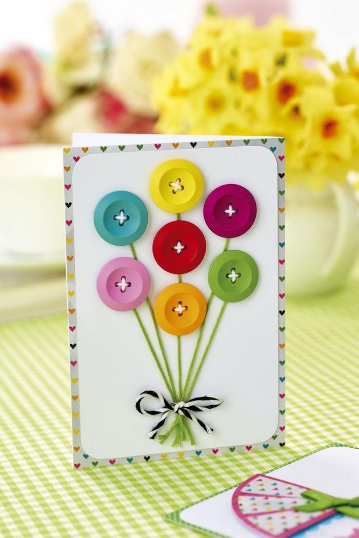 geburtstagskarten selber machen vorlagen kostenlos karte basteln vorlage babykarte basteln blumen karte basteln aus knöpfen bunt