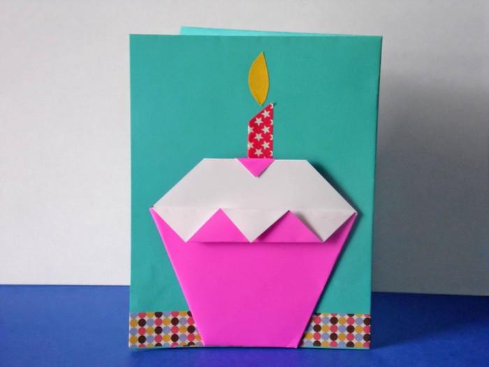 geburtstagskarten selber machen vorlagen kostenlos karte selber basteln origami geburtstagskarte anleitung