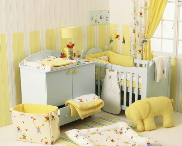 gelbes-babyzimmer-möbel-babyzimmer-deko-babyzimmer-ideen-