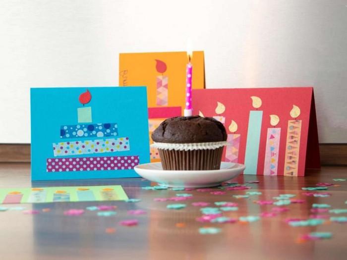 geschenkkarte bastelb geburtstagskarten selber machen vorlagen kostenlos klappkarte basteln drei geburtstagskarten selber machen muffin