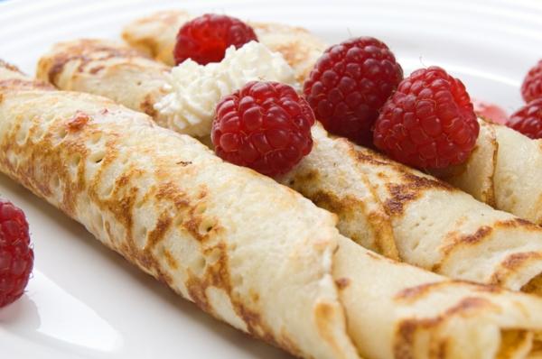 Pancakes-Himbeeren