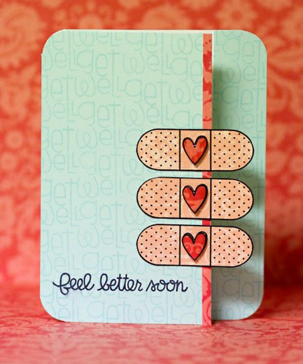 get-well-soon-basteln-mit-papier-karten-selber-machen-diy-karten-basteln-schöne-originelle-ideen Karten selber basteln