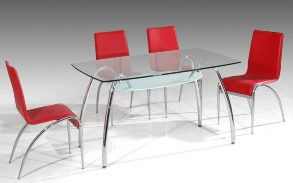 ultramoderne designs vom glasplatte tisch. Black Bedroom Furniture Sets. Home Design Ideas