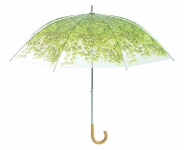 grüner-origineller-regenschirm-weißer hintergrund