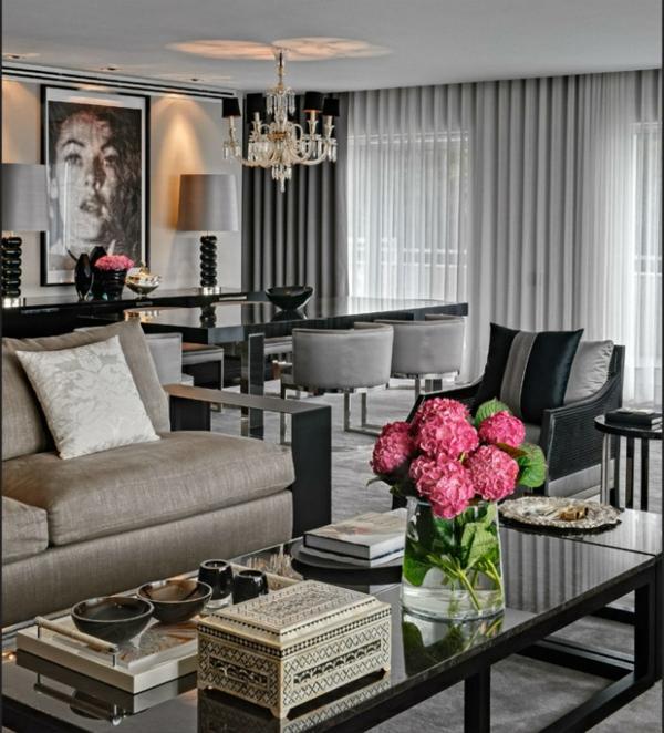 Wohnzimmer Einrichten Graues Sofa: Farbe taupe elegante wandfarbe ...