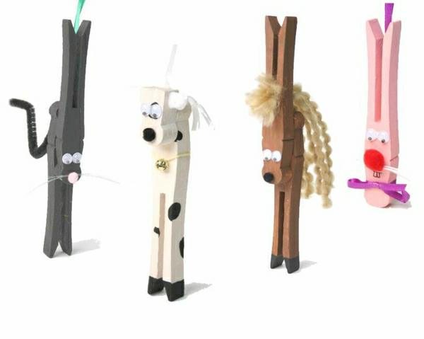 hübsche--deko-ideen-bastelideen-mit-wäscheklammern-cooles-design-