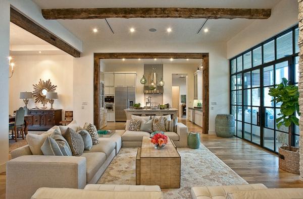 modernes funktionelles gro es wohnzimmer einrichten