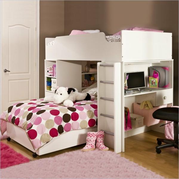Herrliches Kinderzimmer in pink und weiß gestalten