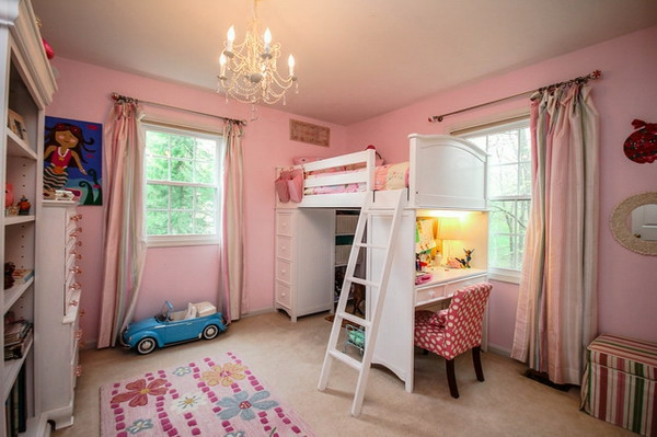 hochbett-für-mädchen-kinderzimmer-in-pink