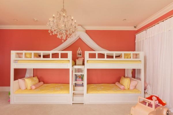 hochbett-für-mädchen-orange-wand-im-kinderzimmer