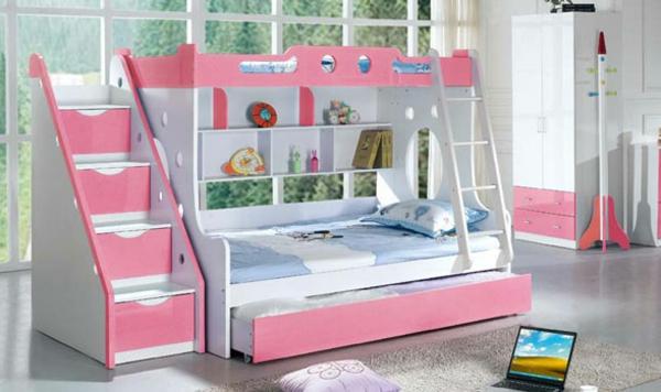 hochbett-für-mädchen-rosa-und-weiß-kombinieren