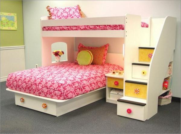 hochbett-für-mädchen-rosige-farbe
