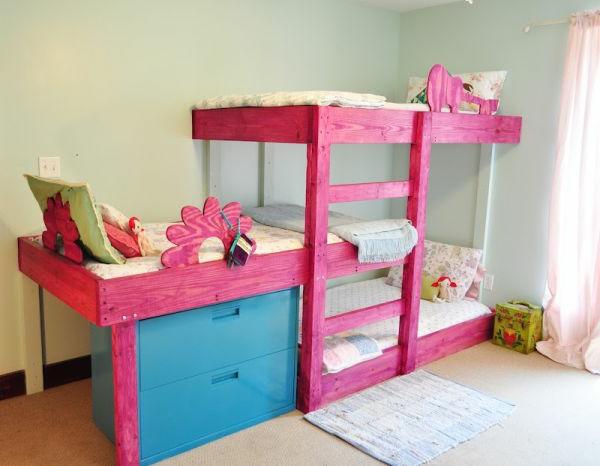 hochbett-für-mädchen-schönes-modell-in-pink