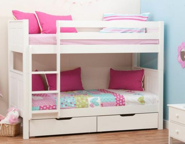 hochbett-für-mädchen-weiß-und-pink-kombinieren