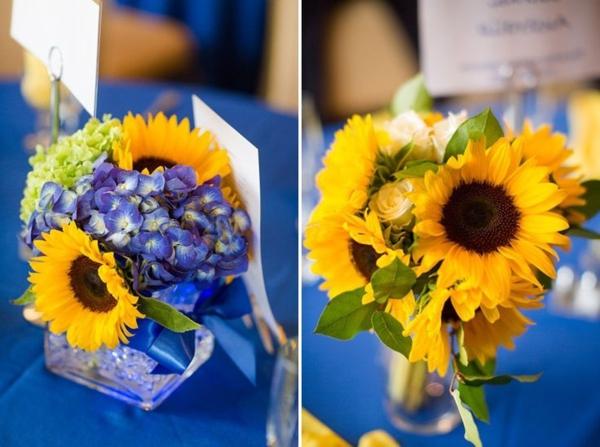 hochzeitsdeko-.schöne-blumendeko-sommerblumen-in-gelber-farbe