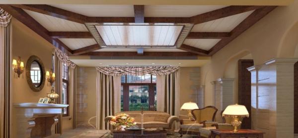 interessante-deckenleuchten-für-wohnzimmer-aristokratisches-aussehen