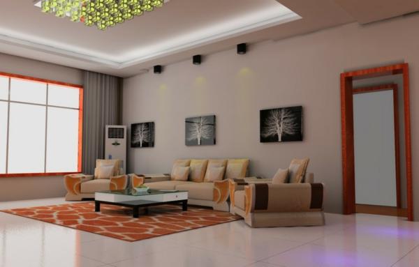 interessante-deckenleuchten-für-wohnzimmer-drei-schöne-bilder