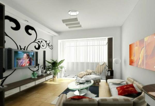 interessante-deckenleuchten-für-wohnzimmer-einfache-schöne-gestaltung