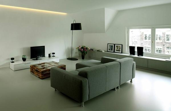 interessante-deckenleuchten-für-wohnzimmer-graue-gestaltung