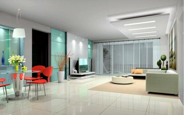 interessante-deckenleuchten-für-wohnzimmer-großer-innenraum