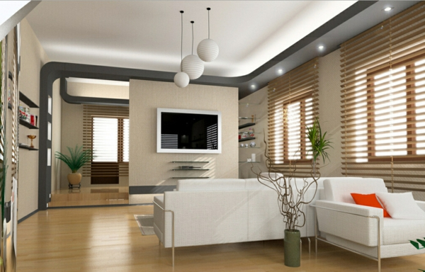 interessante-deckenleuchten-für-wohnzimmer-helle-gestaltung