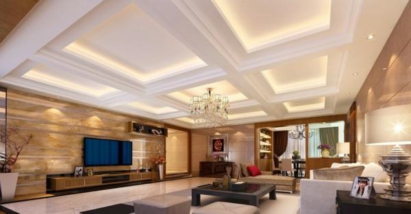 interessante-deckenleuchten-für-wohnzimmer-kreativ-gestaltete-zimmerdecke