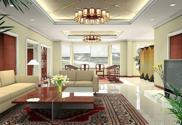 interessante-deckenleuchten-für-wohnzimmer-kreativ-gestaltetes-interieur